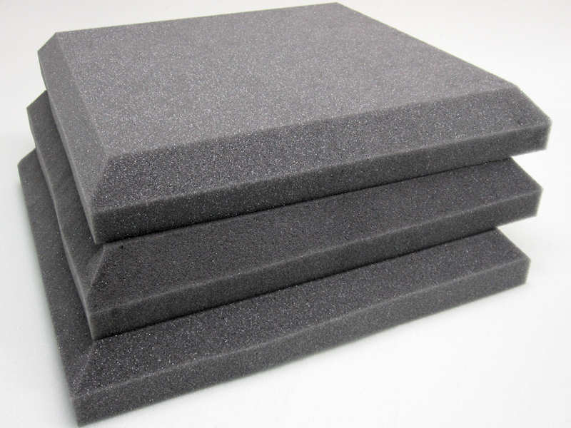 Flat Acoustic Foam Soundproofing Tiles For Room Studio