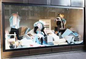 Foam retail window display