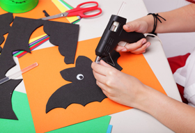 halloween foam crafting