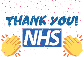 Thank you frontline NHS workers