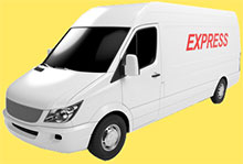 Express delivery van