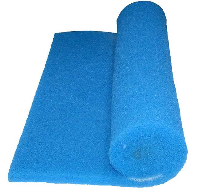 Aquatic reticulated polyether ppi filter foam for pond for Pond filter foam