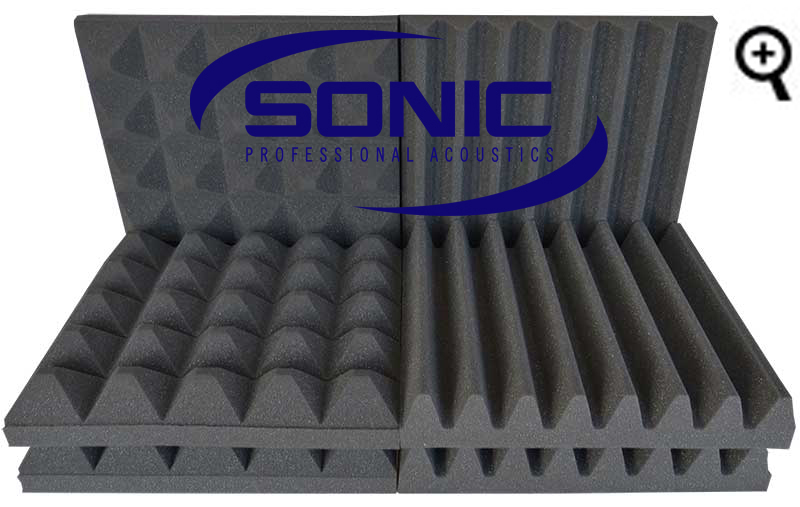 Various Sonic Acoustics soundproofing foam tiles